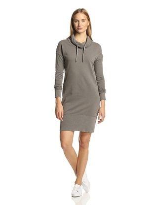 42% OFF James Perse Women's Funnel Neck Sweatshirt Dress (Burro)