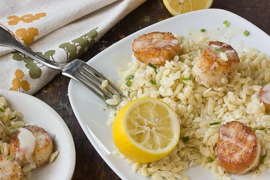 Recipe: Scallops with White Wine Beurre Blanc & Lemon Orzo — Recipes from The Kitchn