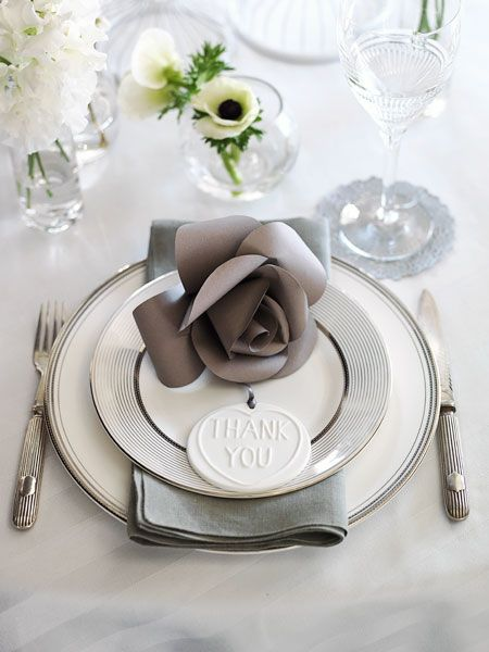 I like the shades of grey and the elegant flower on the plate. Simple and clean but has a luxurious feel.