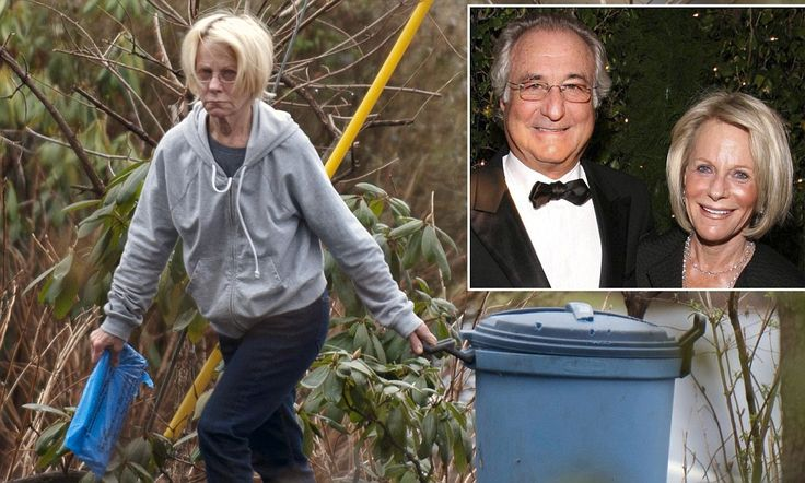 From high life to household chores: Bernie Madoff's wife Ruth hauls out the trash