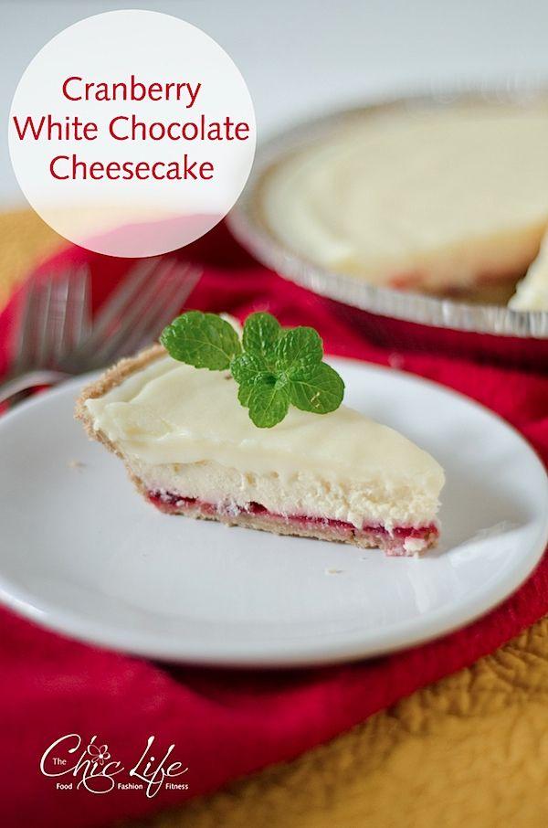... Cheesecake on Pinterest | White chocolate cheesecake, Cranberry sauce