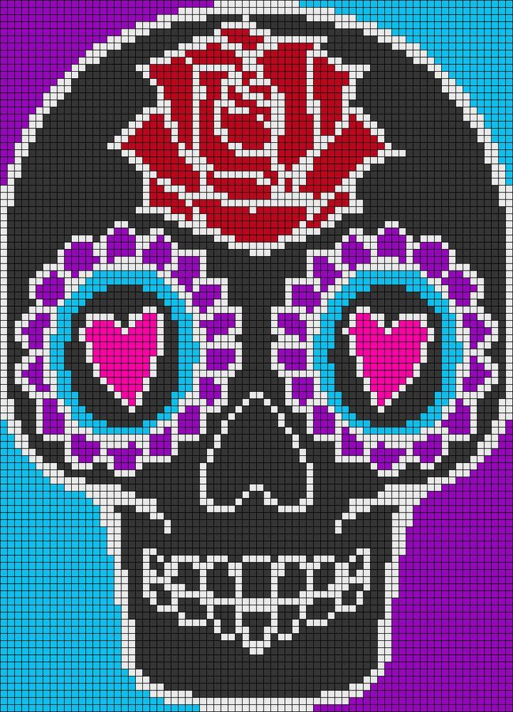 282 best images about Plastic Canvas Skulls on Pinterest