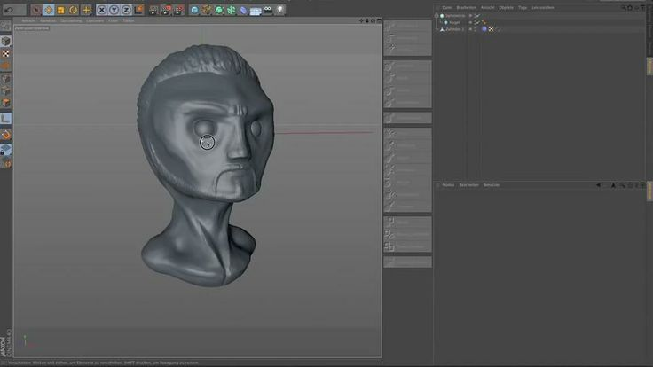 CINEMA 4D R14 - Sculpting head