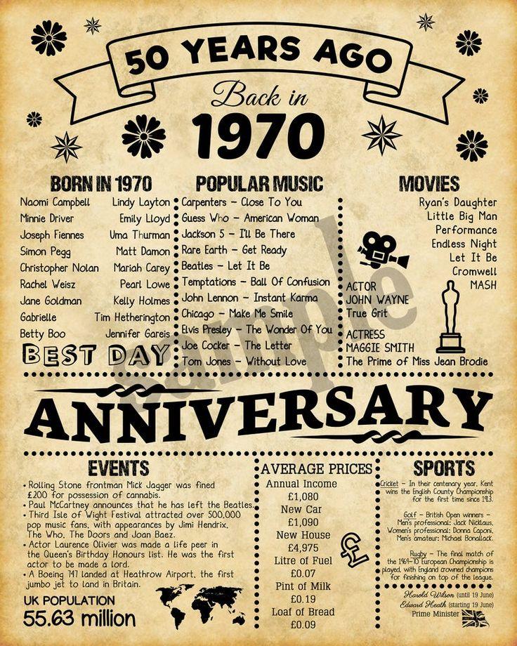 1970, Happy Anniversary, UK version, Wedding Anniversary