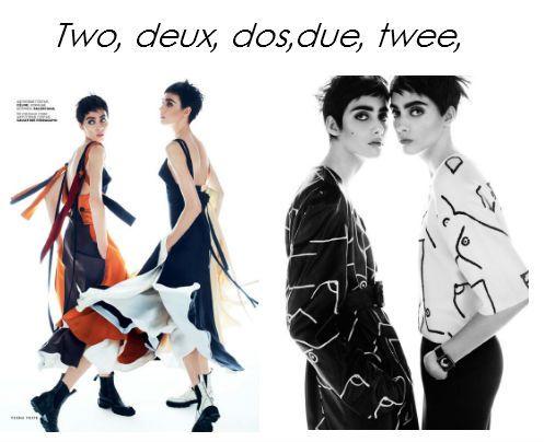 Txema Yeste Stylist: Olga Dunina Hair: Nicolas Jurnjack Make-up: Frankie Boyd Models: Lia Pavlova & Odette Pavlova
