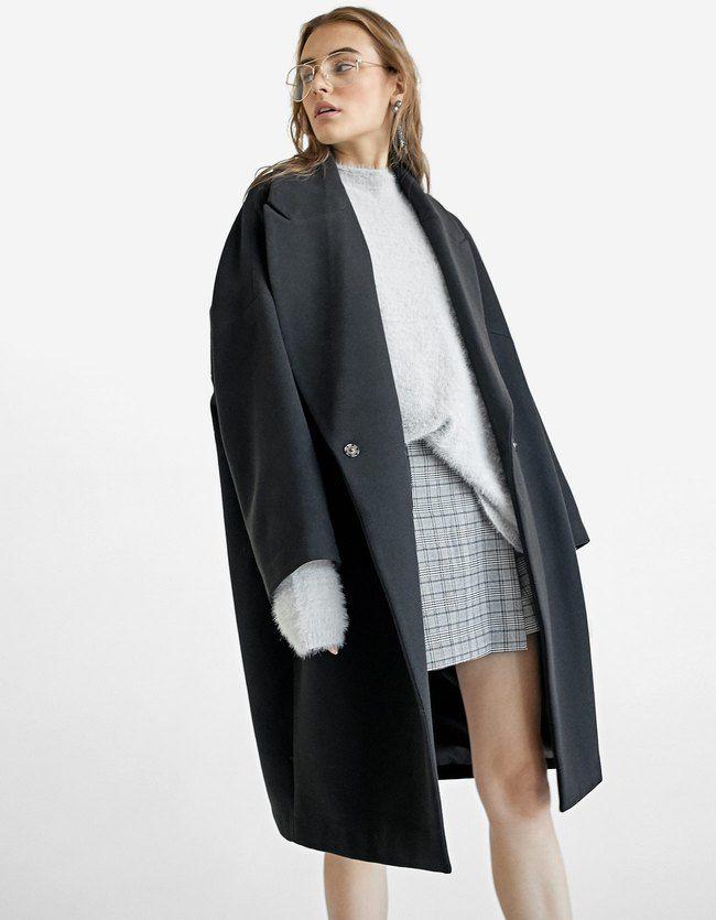 Oversize mantel schwarz damen