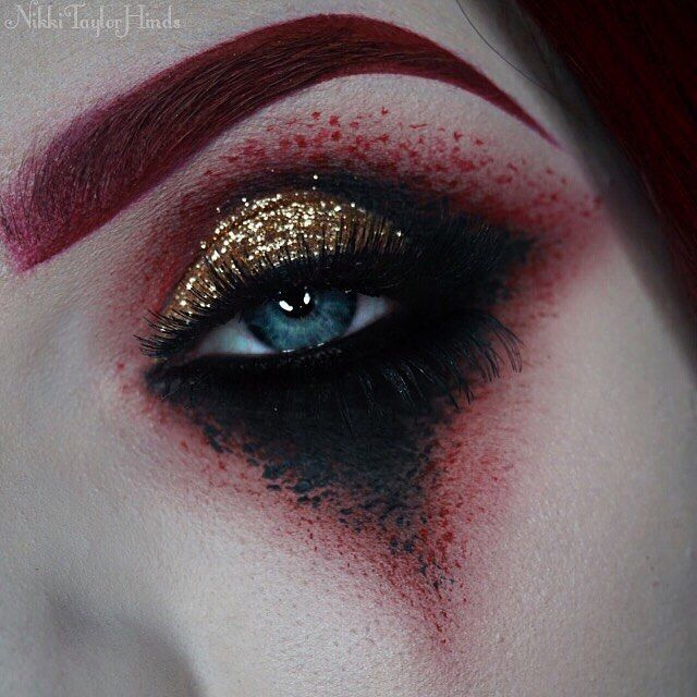 In honor of @avatarmetal and the release of their new album Feathers & Flesh, I wanted to do this look that was inspired by Johannes' stage makeup and the band's colors as a whole. I've been wanting to do this one for ages, and what a better time than now to do it. I'm tempted to also do a series of individual looks that would correspond with each song's portion of the fable. I'll see if I can get enough ideas flowing to complete the series and go from there. [Products used…