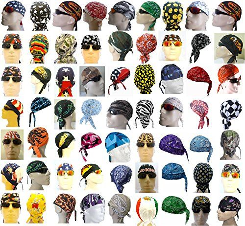 Headwraps Assorted Grab Bag of Doo Rag Assortment Lot Motorcycle Caps Buy Caps and Hats http://www.amazon.com/dp/B004G93FR6/ref=cm_sw_r_pi_dp_9Doowb0HQ10ZX