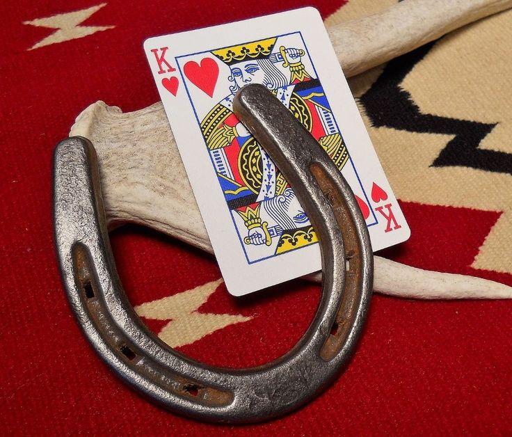 Free Ship Lucky Genuine PONY Horseshoe CASINO Good Luck Cowgirl Cowboy Decor .K #BlacksmithArtPrimitiveWesternCountryGoodLuck #HandworkedbyUSASeller