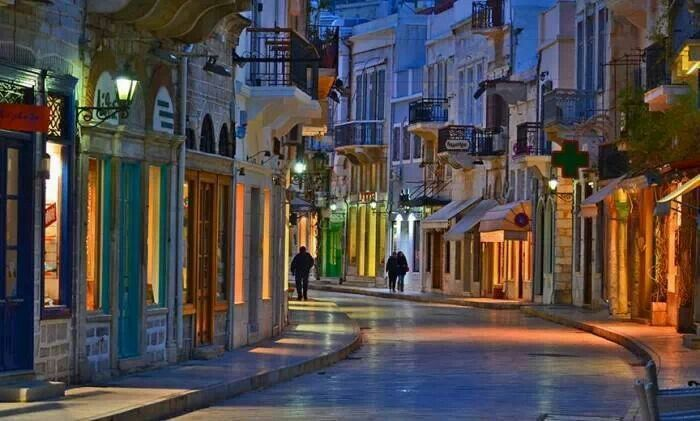 Beautiful streets of Syros Island. I will walk them for sure! #travel #Greek city #architecure #travel #vacation #honeymoon