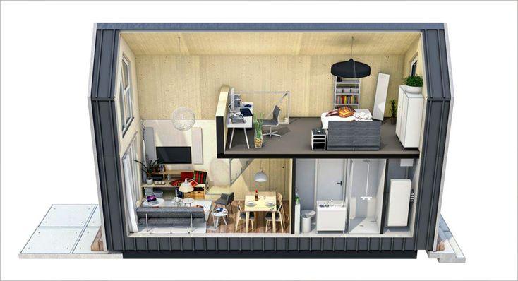604 besten containerwohnungen bilder auf pinterest kleine h user haus auf r dern und. Black Bedroom Furniture Sets. Home Design Ideas