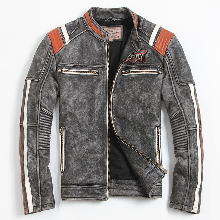 Find More Leather & Suede Information about Men's Motorcycle Jacket…