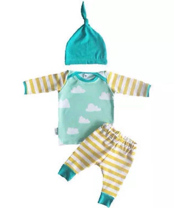 Unisex outfit - cloud baby suit - 3 peice urban set by VerityBeautyUK on Etsy https://www.etsy.com/uk/listing/527140538/unisex-outfit-cloud-baby-suit-3-peice