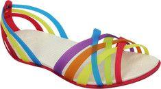 Crocs Huarache Flat - Multi/Geranium with FREE Shipping & Returns. Inspired by the original hand-woven Huarache, this shoe's innovative,