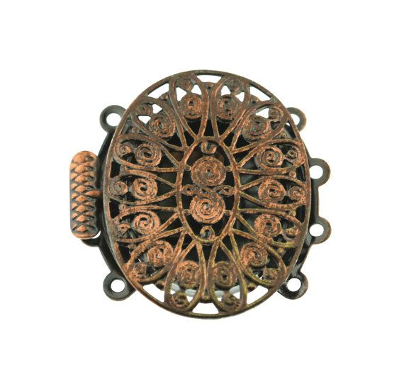 Antique Oxidized Copper Filigree 4 Four by FancyGemsandFindings, $6.00