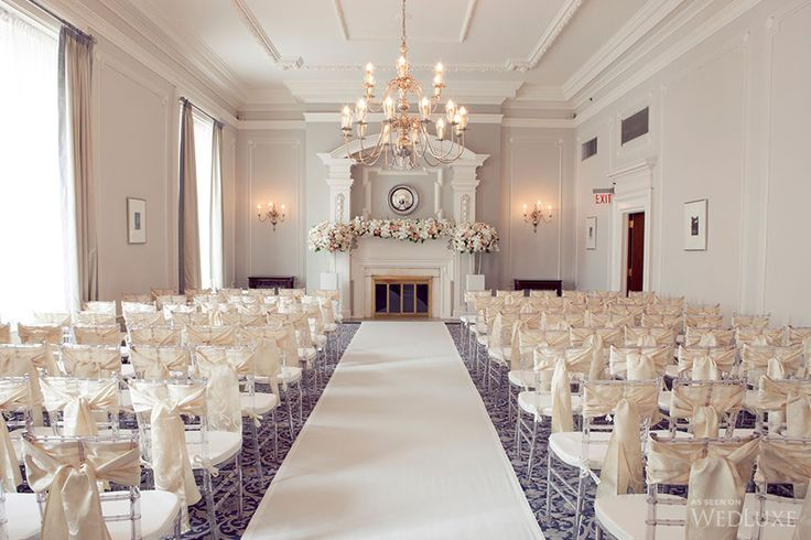 Chic ceremony at The Vancouver Club. CountDown Event Planning & Design + Granville Island Florist.
