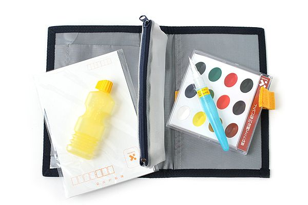 Kuretake Watercolor Palette with Waterbrush - Pocket Set - KURETAKE KG209-7 $25