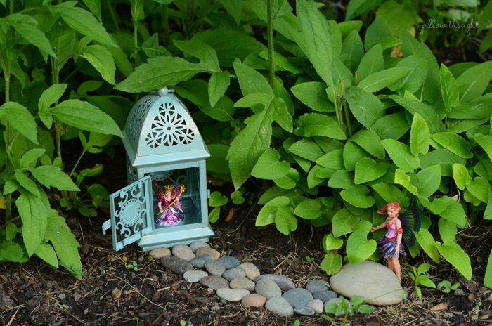 Lantern Fairy House Pillow Thought Diy Fairy Garden
