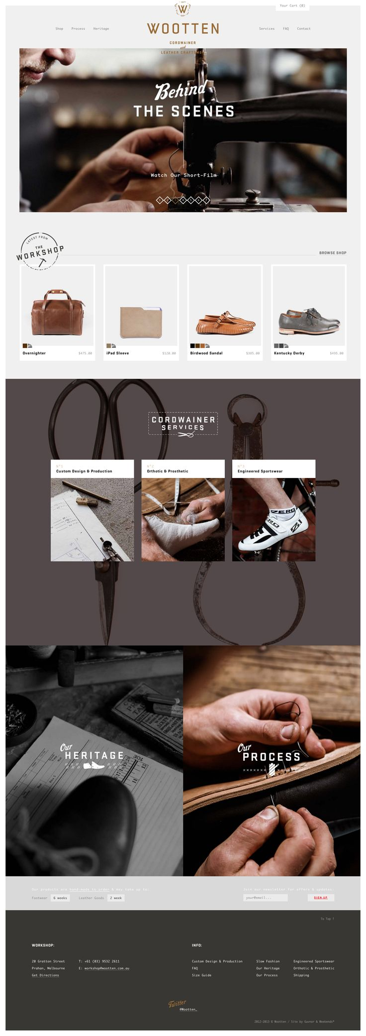 Great layout with full width images. Adore the design-y touches with type over images to invite clients further in to the site. more on http://themeforest.net/?ref=Vision7Studio