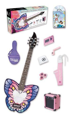 """Daisy Rock'S Exclusive """"Slim & Narrow"""" Neck Design Makes It Easier For Girls With Smaller Hands To Play The Guitar. - Daisy Rock Debutante Butterfly Short Scale Fantasy Electric Guitar Pack by Daisy Rock. $313.27. Daisy Rock Debutante Butterfly Short Scale Fantasy Electric Guitar PackFor the aspiring rocker, the Debutante Butterfly Electric Guitar Pack features everything a girl needs to play electric guitar in one deluxe starter pack. The Debutante by Daisy R..."""