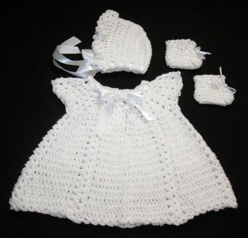 eBay - Christening Gown Baptism Dress Baby Crochet Pattern