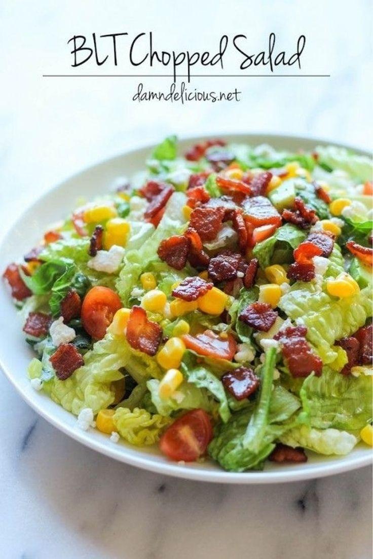 25. BLT #haché salade - 45 #salades totalement #savoureux, vous pouvez #manger pour tous les repas... → Food