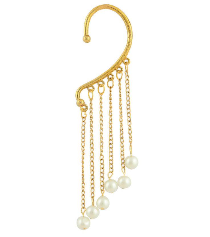 UPTO 25% OFF on Gold #Pearl #Embellished #Ear #Cuff by #Luxor at #Indianroots