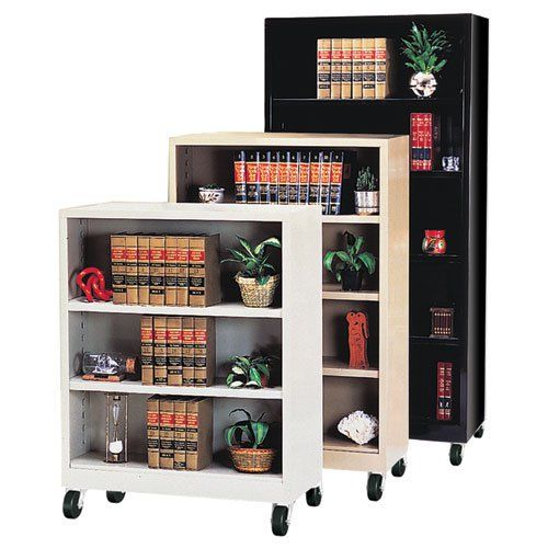 Sandusky Lee Heavy Duty Commercial Mobile Metal Bookcase | from hayneedle.com
