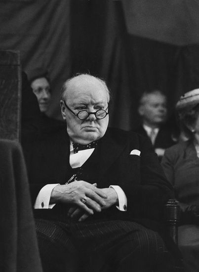 Winston Churchill par Marc Riboud.