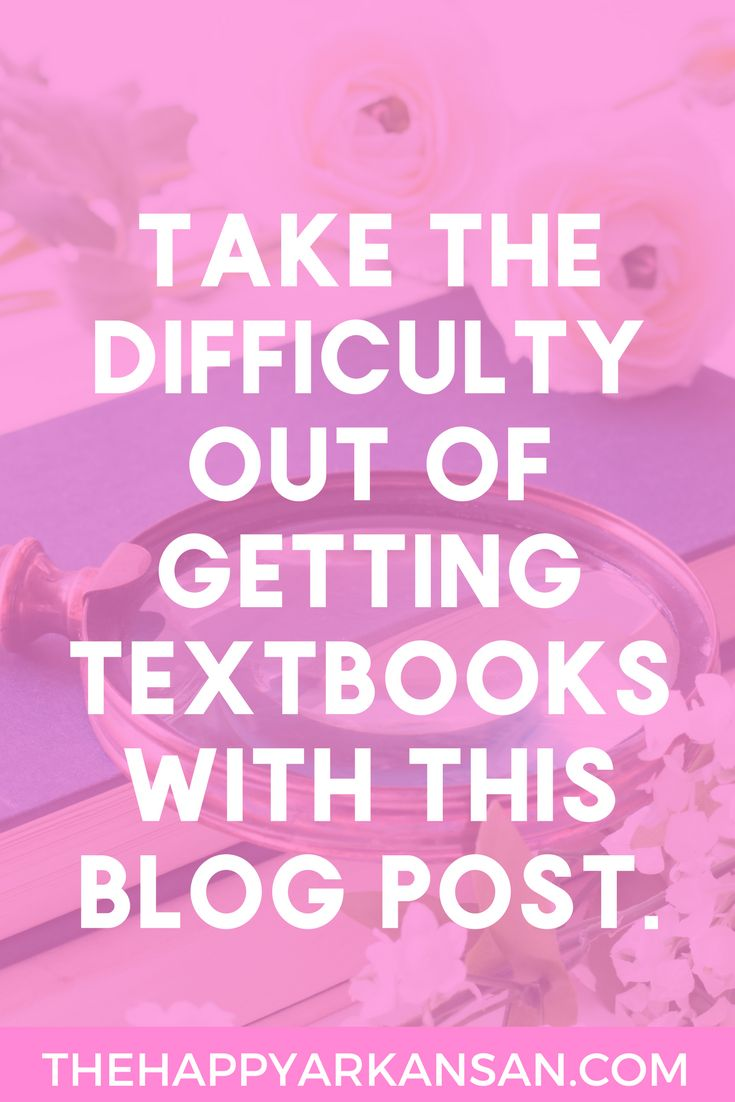 The Ultimate Textbook Purchasing Guide | Purchasing textbooks doesn't have to cost an arm and a leg. Click through for all my best tips on purchasing textbooks such as where you should get your books, when you should get your books, if you should buy them new, and so much more!