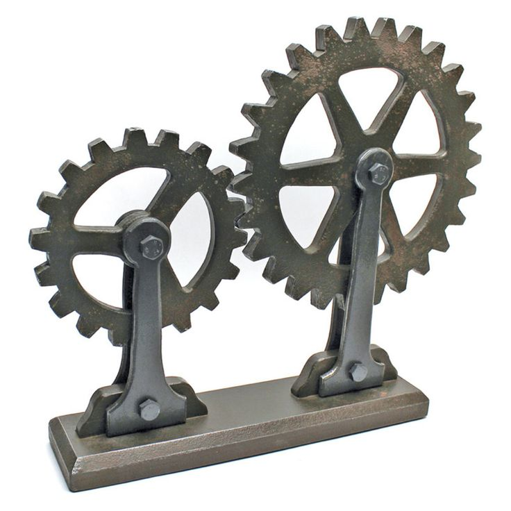Design Toscano Meshed Gears Industrial Sculpture - MHZ123