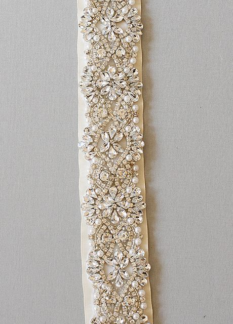 art deco inspired crystals and pearls embellished belt