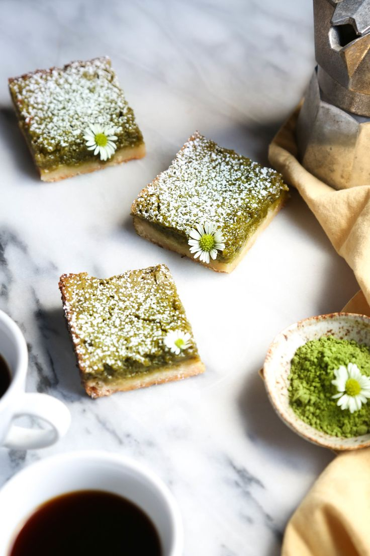 Matcha Green Tea Lemon Bars