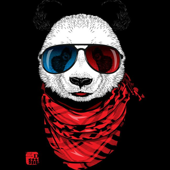 Cool panda artwork