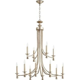 Quorum International Rossington Family Metal Two-tier 12-light Transitional Chandelier | Overstock.com Shopping - The Best Deals on Chandeliers & Pendants