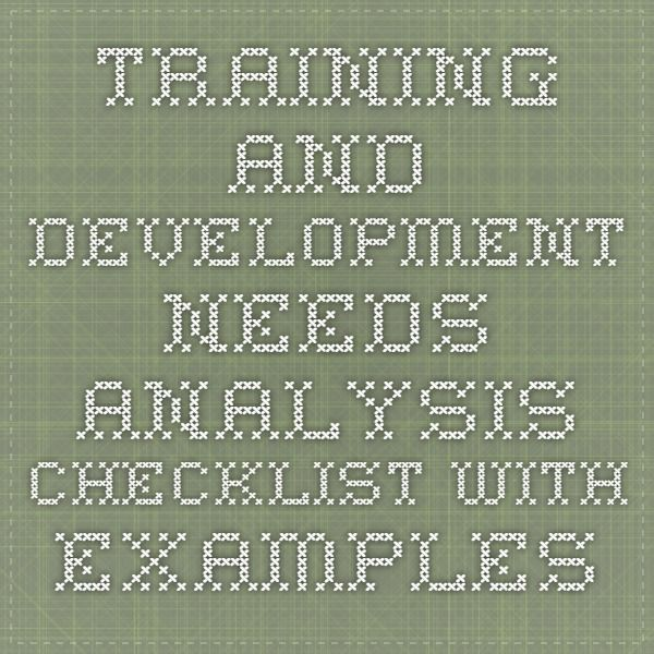 13 best Training needs analysis and development images on - training needs analysis template