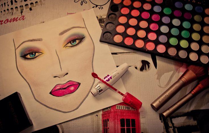 make-up facechart