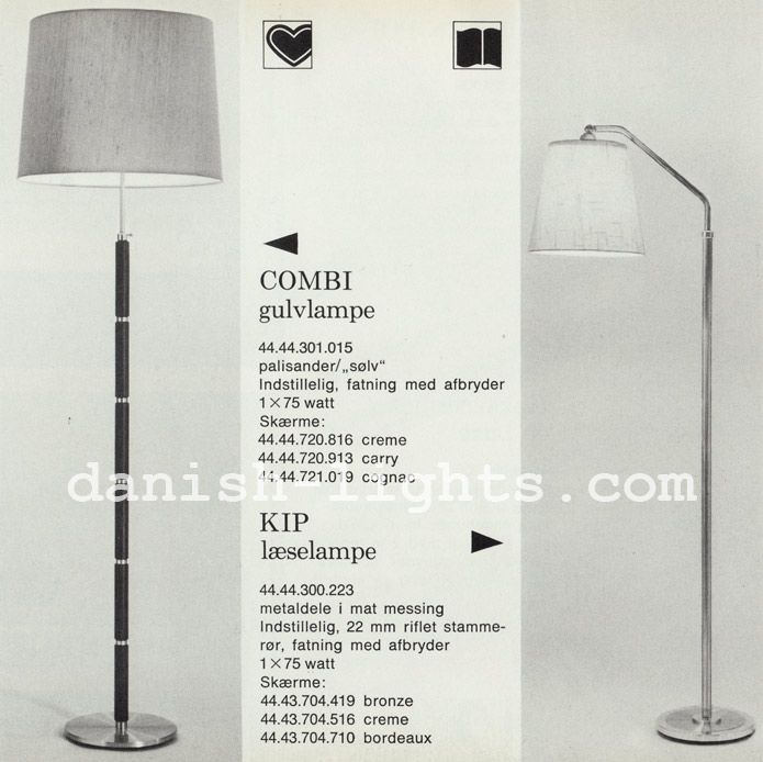 Unspecified Designer For Lyfa Combi Kip Gulvlampe Bordeaux Skaerm