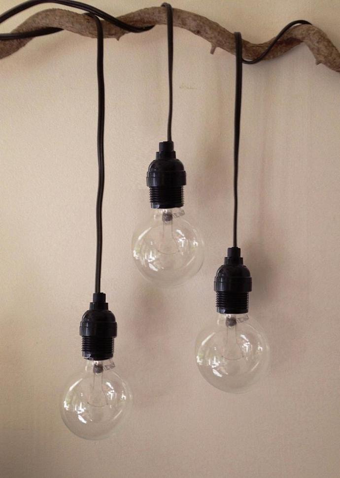 Tesla Hanging Drop Pendant Light With 11 Plug In Cord