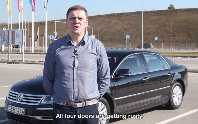Volkswagen Phaeton, korozija na 4 točka
