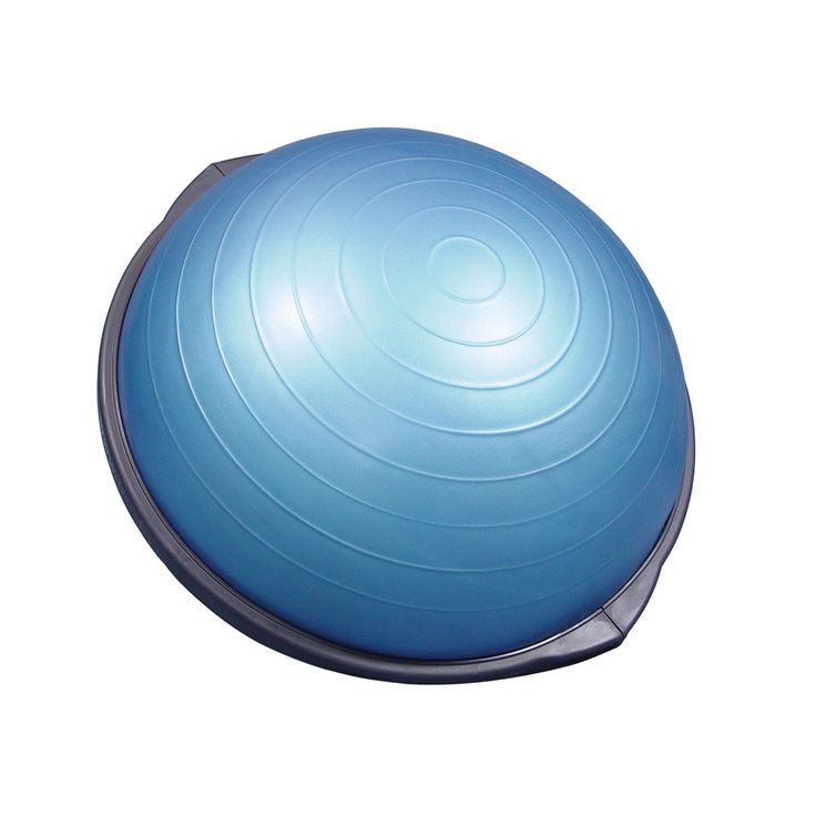 The Original BOSU Balance Trainer can be used for a variety of stretches and…
