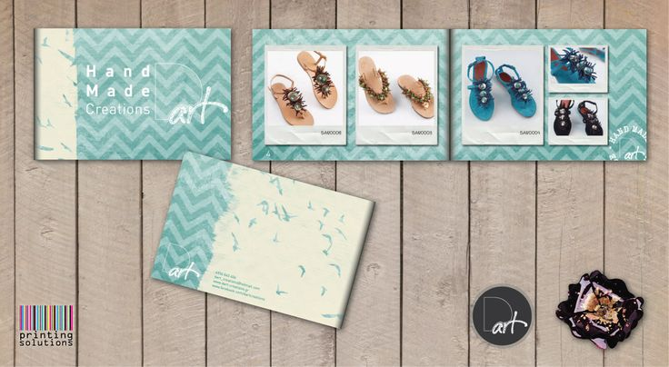 Being elegant and creative it's not a hobby, it's a way of life. Dart creations change the mood of athens! #brochure #design #handmade #print #sandals