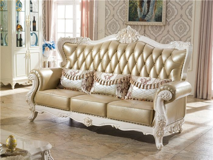 Clic Leather Livingroom Sofa Set Weding Home Goods Furniture View Wedding Oe Fashion Product Details From Foshan Co