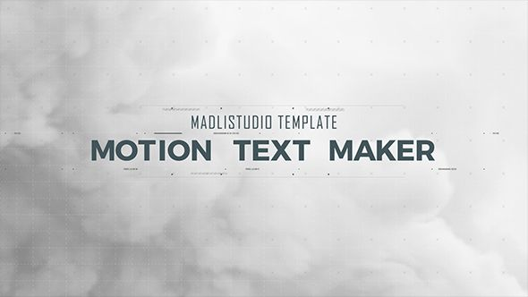 UPDATE: Re-structure comps for easier adding more characters     Motion Text Maker   100% After Effects CS5, CS6, CC2014 & CC2015 5 style text animations (default 20 copies each design) 3 style ele...