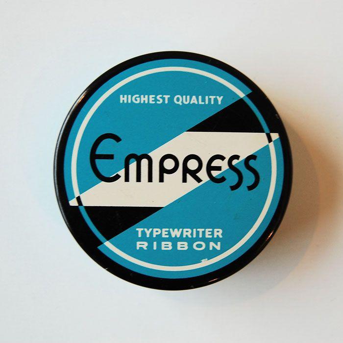 Vintage TypewriterTins: Graphic Design, Package Design, Tins, Ribbons, Vintage Packaging, Vintage Typewriters, Empress Typewriter