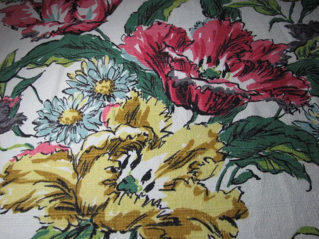Vintage Hawaiian Barkcloth from the fifties 48 inches wide by 76 inches long by MajorVintageShop on Etsy