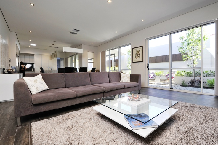 The main living area downstairs in the display home.