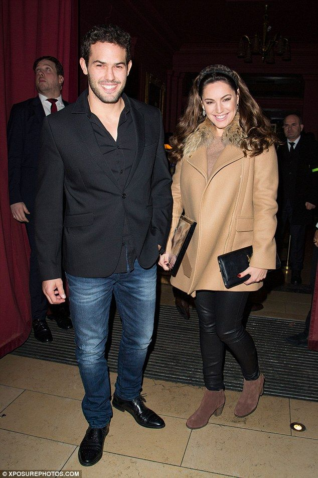Date night: Kelly Brook was back on her home turf on Thursday night, taking her French partner Jeremy Parisi for a night to remember at her London bar Steam & Rye