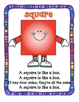 Here's a nice series of posters with shape poem songs for triangle, rectangle, square and circle.