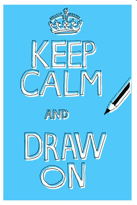 how to draw a keep calm poster